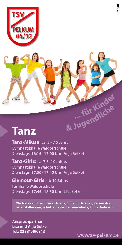 Tanzen für Mädchen von 7,5 - 9 Jahren
